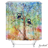 Goodbath Color Tree o Life Mildew Free Polyester Shower Curtains 66 Inch by 72 Inch,Colorful