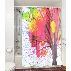 Goodbath Color Tree of Life Shower Curtain, Waterproof and Mildew Resistant, Polyester Fabric Bath Curtains, 72 x 72 Inch, Colorful