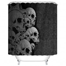 Goodbath Extra Long Fabric Shower Curtain, Sugar Skull Print 72 x 84 Inch for Home Bathroom Decorative Bath Curtains, Black and White