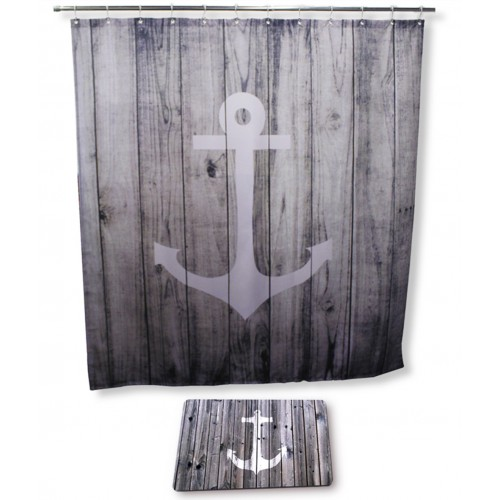 Shower Curtain And Bath Rugs